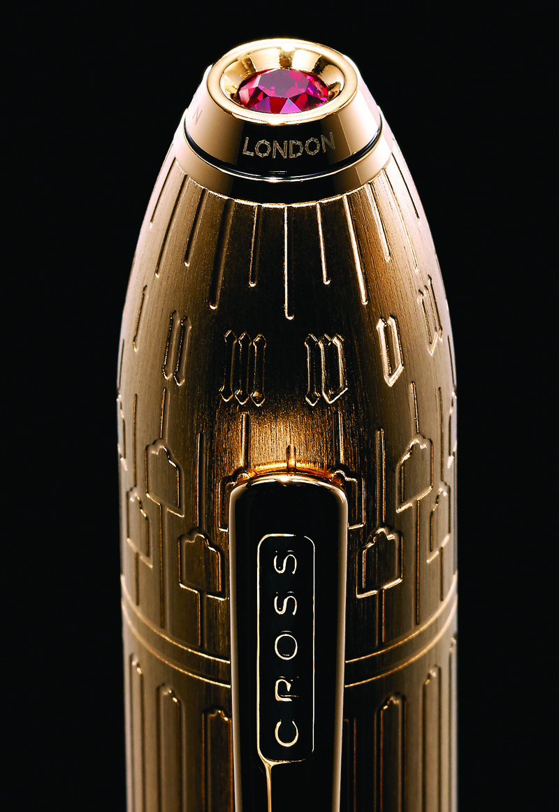 Cross Peerless Citizen LE London - Rolled Gold, шариковая ручка, M