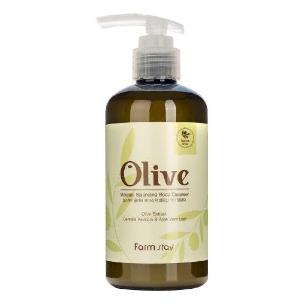 Гель для душа увлажняющий с экстрактом оливы FarmStay Olive Moisture Balancing Body Cleanser