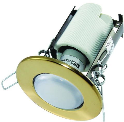 Светильник встраиваемый СВ 01-04 R63 75Вт Е27 золото TDM