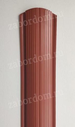 Евроштакетник металлический 110 мм RAL 8004 фигурный 0.5 мм