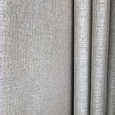 Блэкаут лен для штор серый. BLL-7