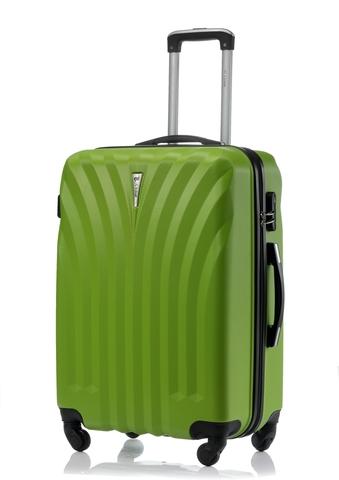Чемодан со съемными колесами L'case Phuket-28 Зеленый (L)