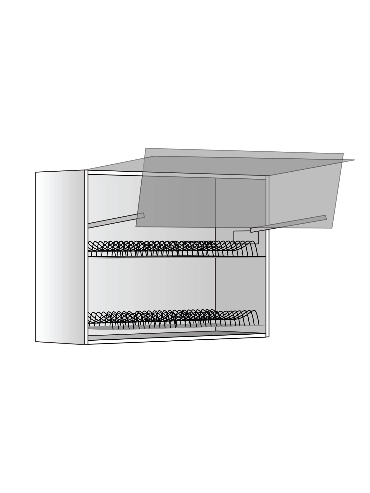 Верхний шкаф c сушилкой и подъемником, 600х800 мм