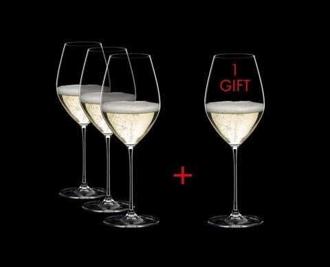 Набор из 4-х бокалов для шампанского  Champagne Wine Glass 445 мл, артикул 5449/28. Серия Riedel Veritas