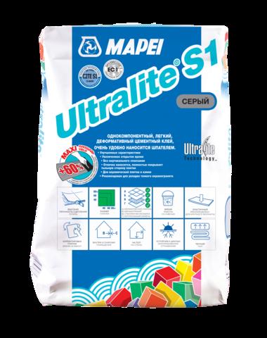 Mapei Ultralite S1/Мапей Ультралайт С1 цементный клей для керамической плитки, керамогранита и натурального камня