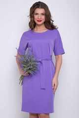 """<p><span>Современное платье прямого силуэта с поясом по талии. Рукав """"мышь"""" на манжете. Отличный офисный вариант.</span><br /><span>Длина платья: 46-48- 97см, 50-52-98см,54-99см</span></p>"""