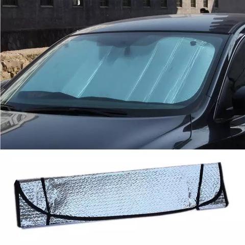 Солнцезащитный экран на лобовое стекло автомобиля 130х60 см