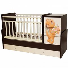"""Детская кровать-трансформер с маятником """"Martina 2"""" Teddy"""