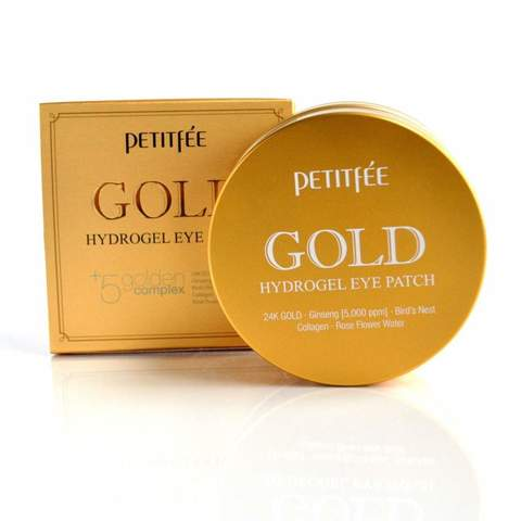 Патчи для век Petitfee +5 Golden Complex Hydrogel Eye Patch с золотом, 60 шт