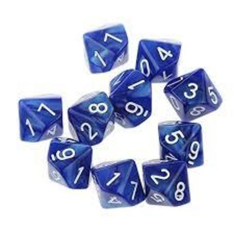 D10 Dice Pack - Blue (10)