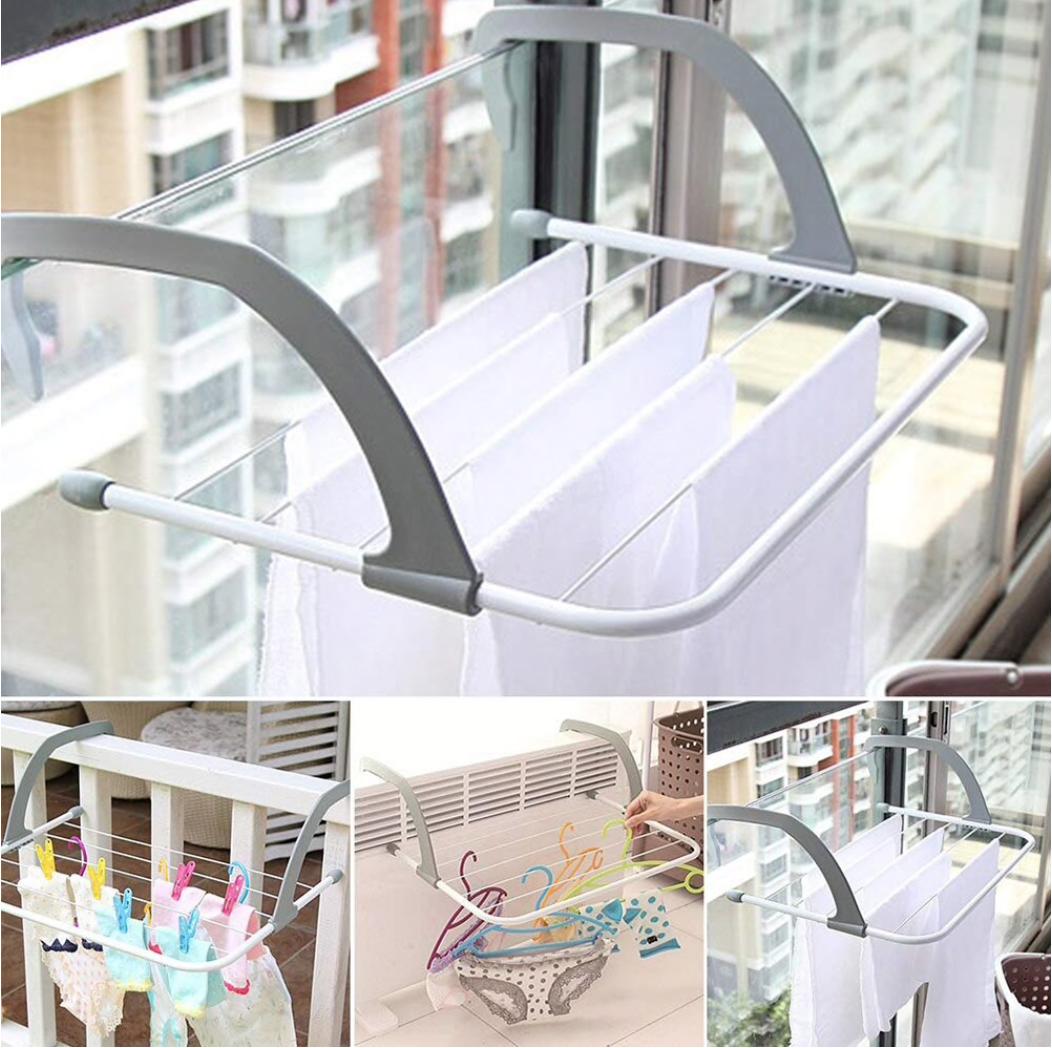 Сушилка для одежды на дверь, балкон переносная фото