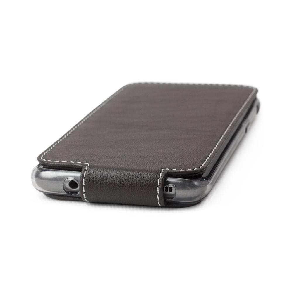 Чехол для Samsung Galaxy S8 из натуральной кожи теленка, темно-коричневого цвета