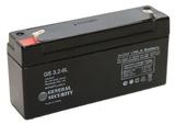 Аккумулятор General Security GS 3,2-6 ( GS6-3.2 ) ( 6V 3,2Ah / 6В 3,2Ач ) - фотография
