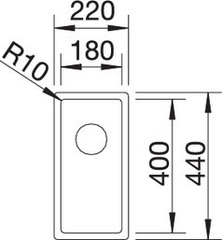 Мойка Blanco Claron 180-U схема