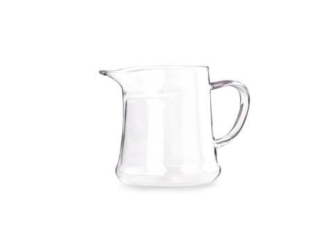 Сливник чайник из жаропрочного стекла с ситом