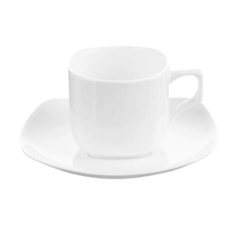 Чайная пара Wilmax фарфоровая белая чашка 200 мл/блюдце (артикул производителя WL-993003)