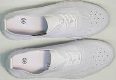 Дышащие кроссовки повседневные женские Small Swan NB-821 All White.