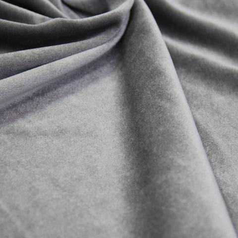 Бархат негорючий серый, ширина - 150 см., 380 гр./м2. арт. BR/7VN
