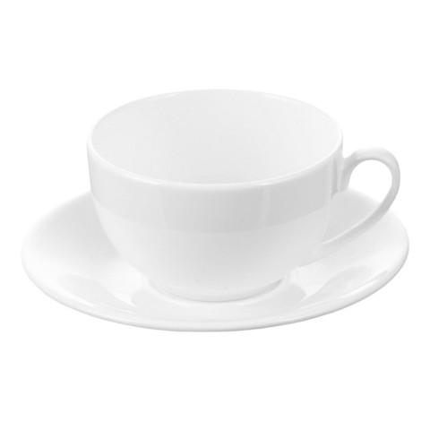 Кофейная пара Wilmax фарфоровая белая чашка 180 мл/блюдце (артикул производителя WL-993001)