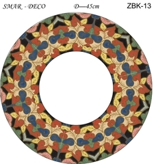 Эскиз для росписи, Зеркало диаметр-45см, SMAR-ZBK-13
