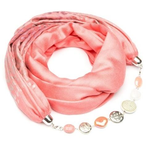 Кашемировый шарф с ожерельем