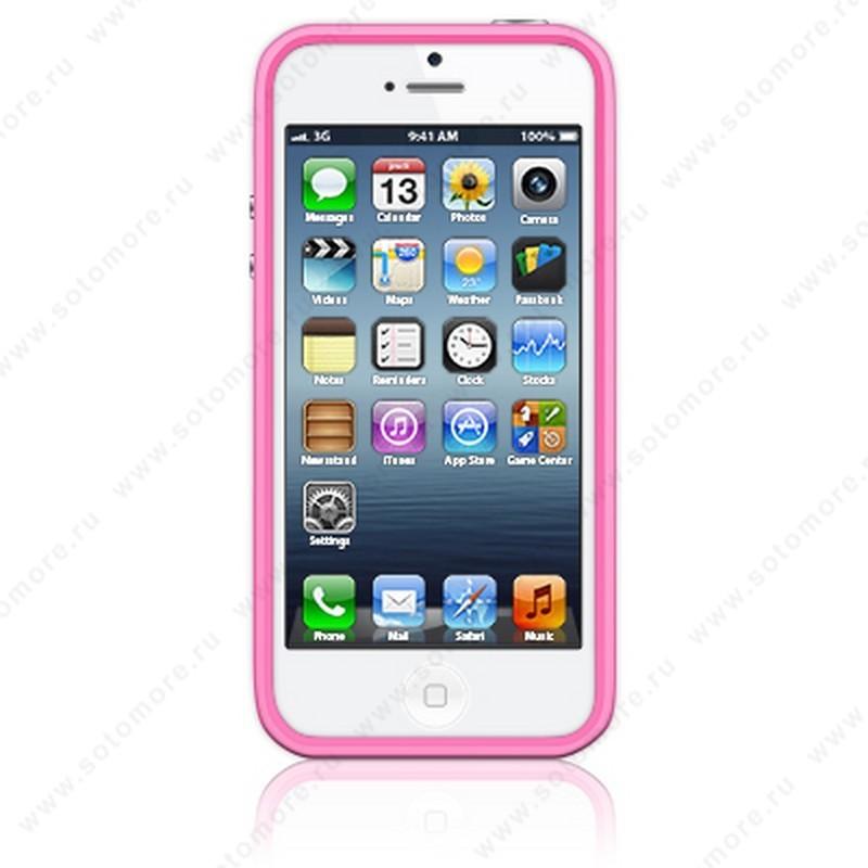 Бампер Apple для Apple iPhone SE/ 5s/ 5C/ 5 Bumpers розовый