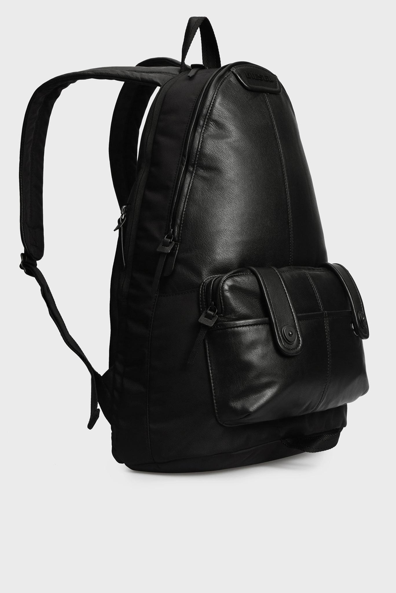 Мужской черный кожаный рюкзак IURBAN MONTEKKIO Diesel