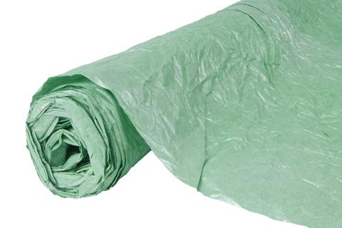 Бумага жатая эколюкс 70см х 5м зеленая/серебро 10S