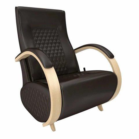Кресло-глайдер Balance Balance-3 с накладками, натуральное дерево/Oregon perlamutr 120, 014.003