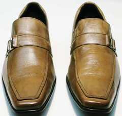 Элегантные мужские туфли без шнурков Mariner 12211 Light Brown.