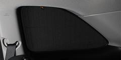 Каркасные автошторки на магнитах для Lada Granta (2011+) Лифтбэк. Комплект на задние форточки