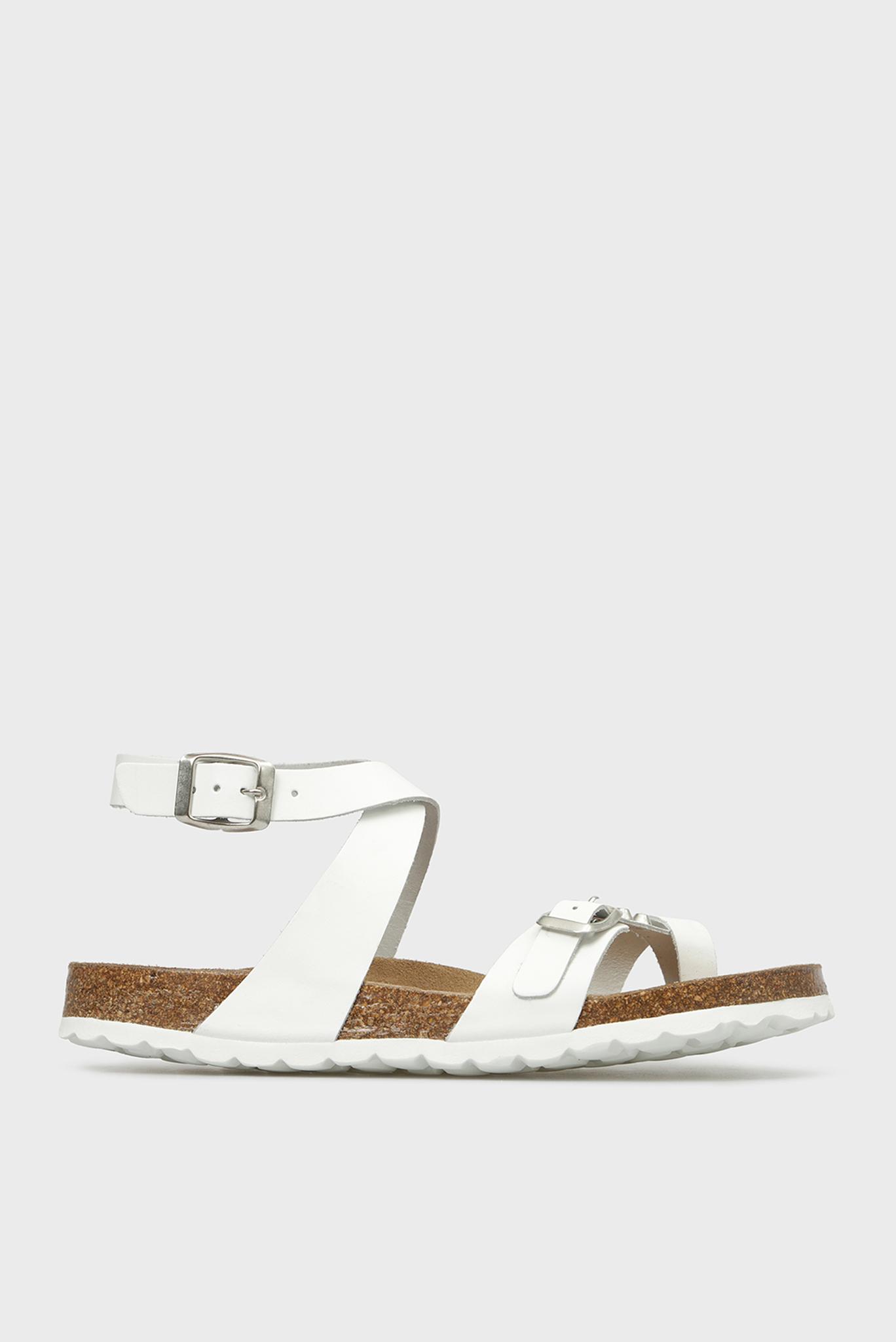 Женские белые кожаные сандалии Tortosa Preppy