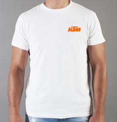 Футболка с принтом KTM (KTM AG) белая 008