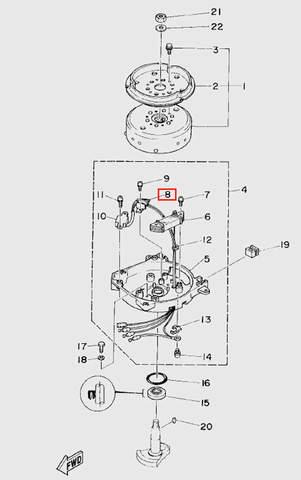 Катушка импульсная  для лодочного мотора T5 Sea-PRO (5-8)