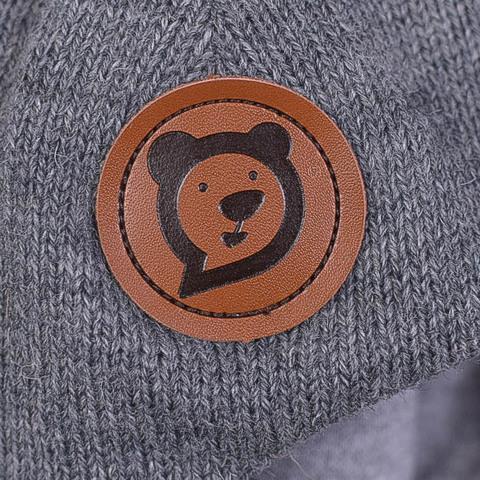 Шлем зимний с помпоном