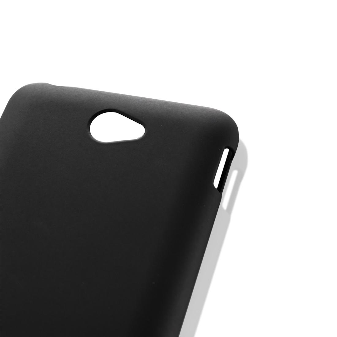 Пластиковая накладка для Xperia E4 чёрного цвета