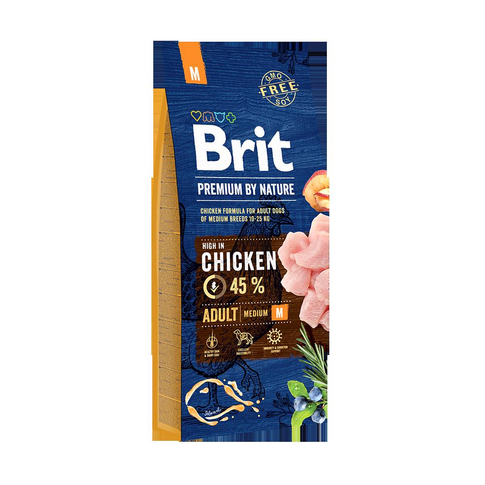 Сухой корм Корм для собак средних пород, Brit Premium by Nature Adult M 69992.png