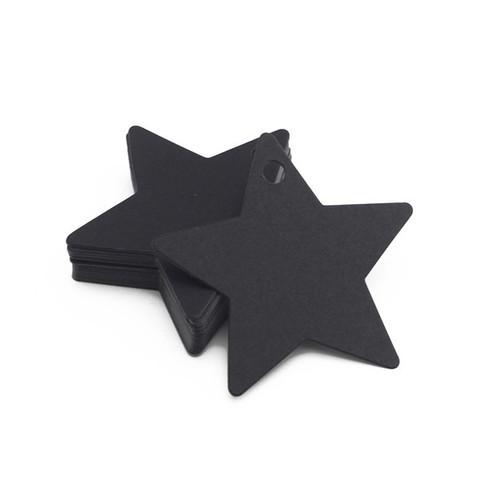 Бирка из картона - Звездочка черная