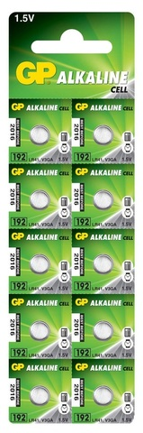 Батарейки GP 192-U10 Alkaline AG 3, LR41