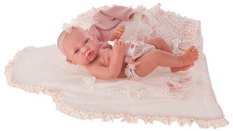 Munecas Antonio Juan Кукла-младенец Африка в розовом, 42 см (5042P)