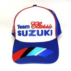 Кепка с вышитым логотипом Сузуки (Кепка Suzuki) синяя