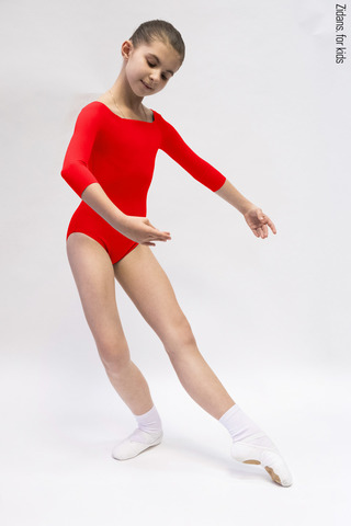 2 Sleeves leotard for kids | colour