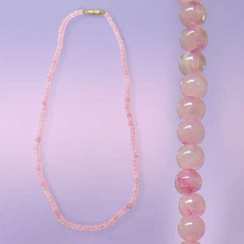 Бусы  Розовый кварц