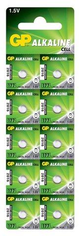 Батарейки GP 177-U10 Alkaline AG 4, LR626
