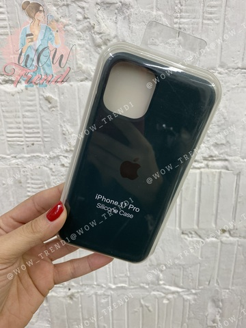 Чехол iPhone 11 Silicone Case /forest green/ зеленый лес 1:1