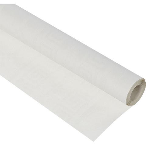 Скатерть одноразовая бумага в рулоне 120 см x 5 м белая
