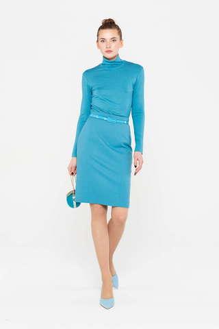 Фото стильная однотонная юбка-карандаш обтягивающего силуэта - Юбка Б125-193 (1)