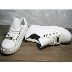 Модные кроссовки белые женские Molly shoes 557 Whate