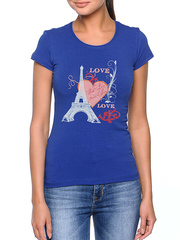 8526-3 футболка женская, синяя