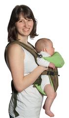 Чудо-Чадо. Рюкзак-кенгуру BabyActive Simple, хаки вид 1